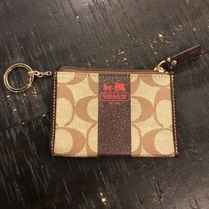 Coach Card Holder Keychain